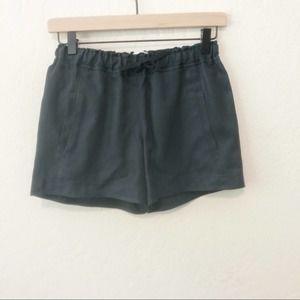 SKIN drawstring waist shorts size 0 navy blue